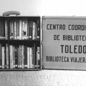 Maleta viajera del antiguo Centro Coordinador Provincial de Bibliotecas